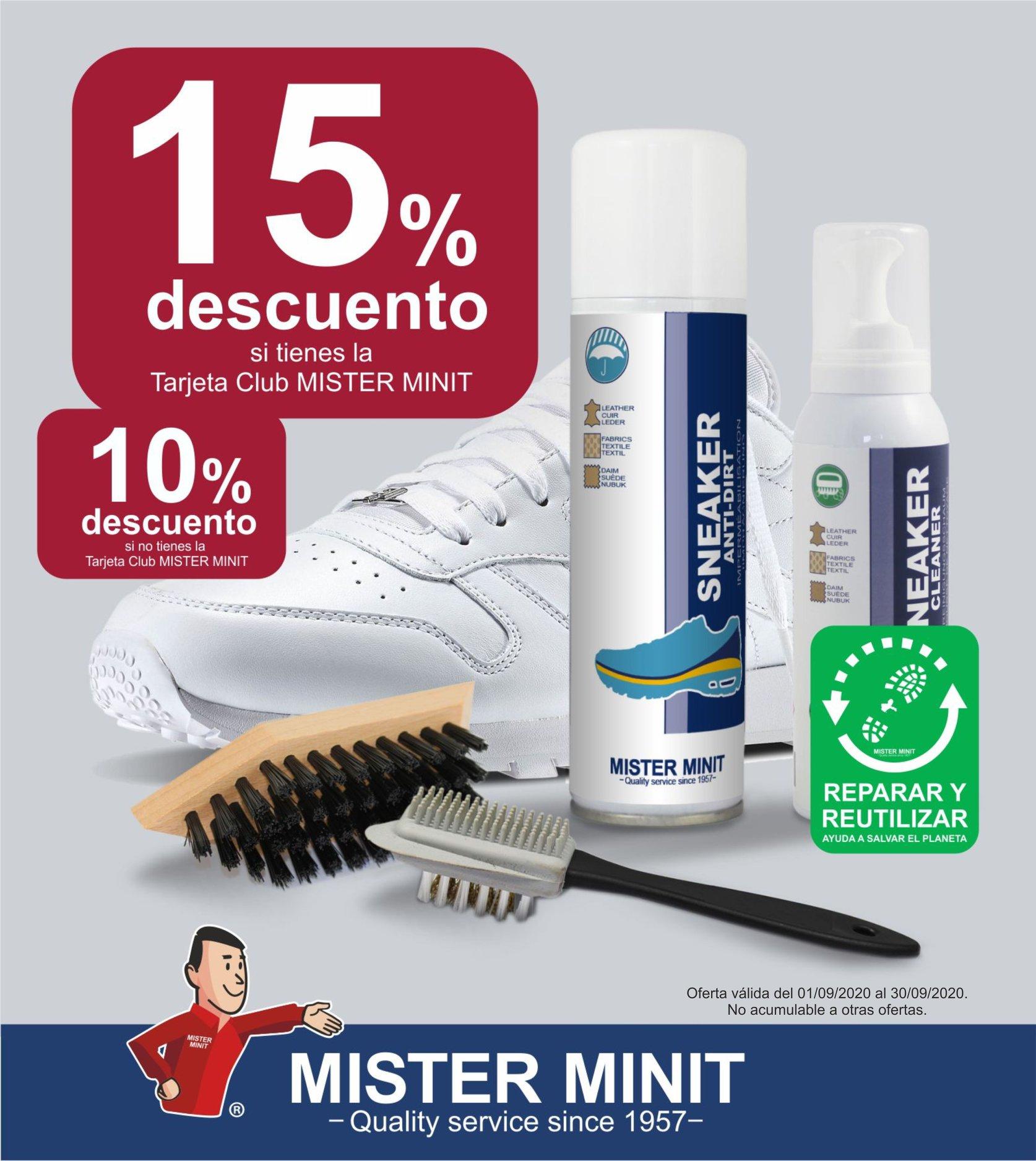 Calzado limpio con Mister Minit