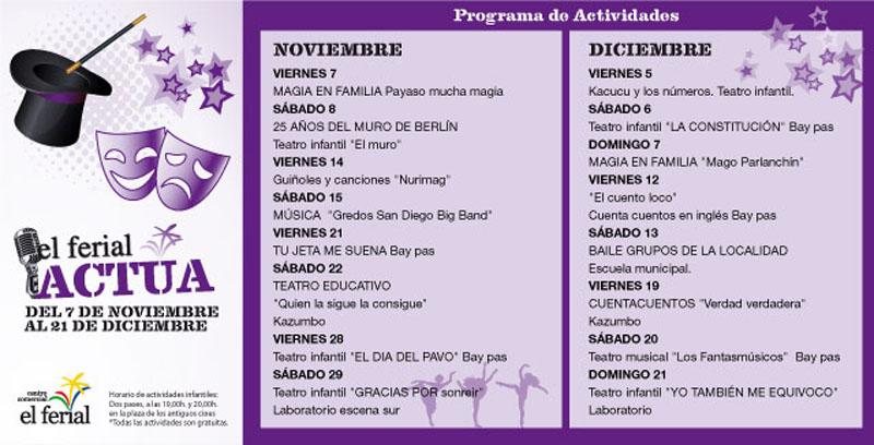 El Ferial Actua - Noviembre y Diciembre 2014