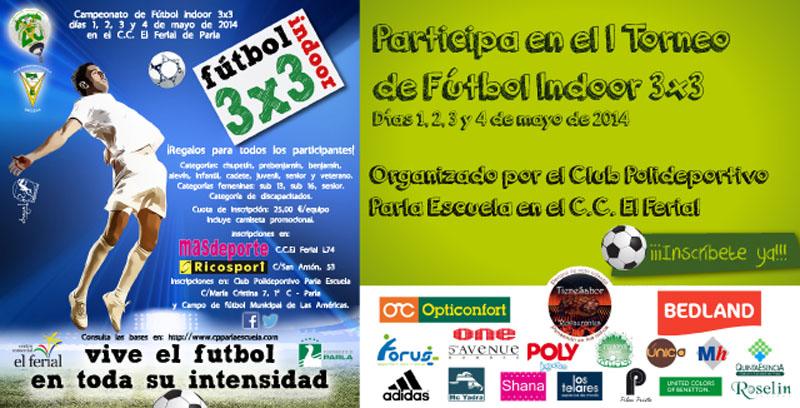 Torneo de fútbol indoor 3x3