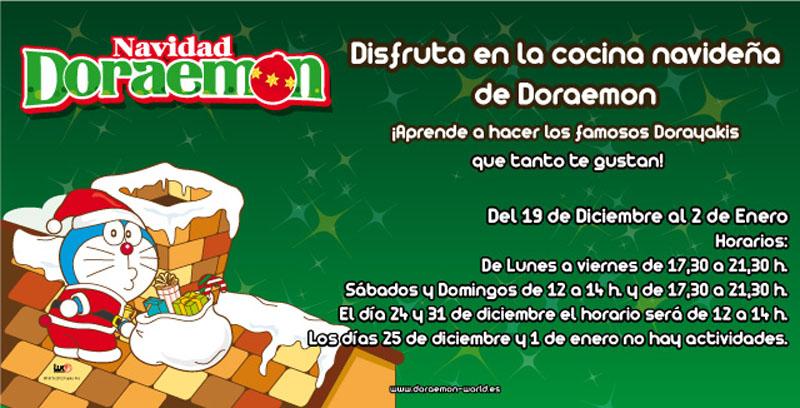 Disfruta en la cocina navideña de Doraemon