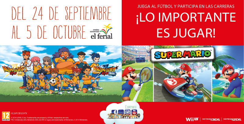 Juega al fútbol y participa en las carreras con Nintendo