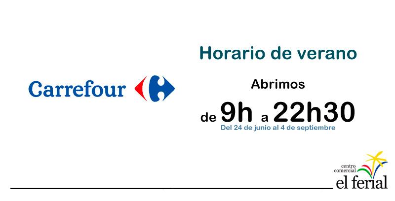 Carrefour amplía su horario de verano en CC El Ferial (Parla)