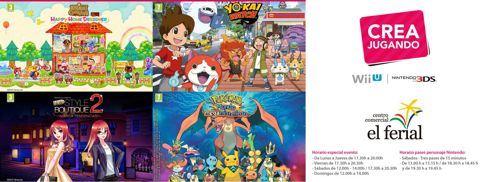 Crea Jugando con Nintendo en Centro Comercial El Ferial
