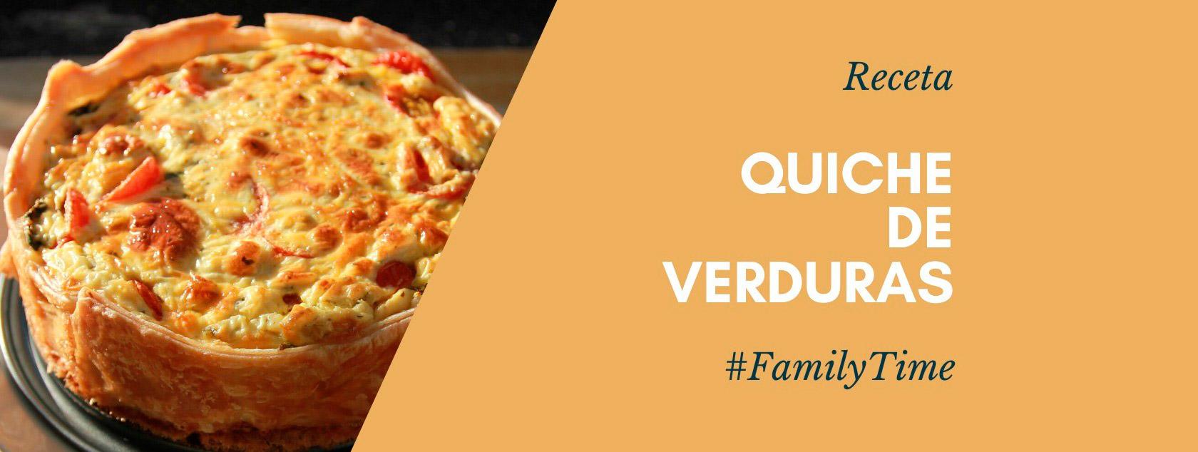 Family Time. Receta para elaborar quiche de verduras