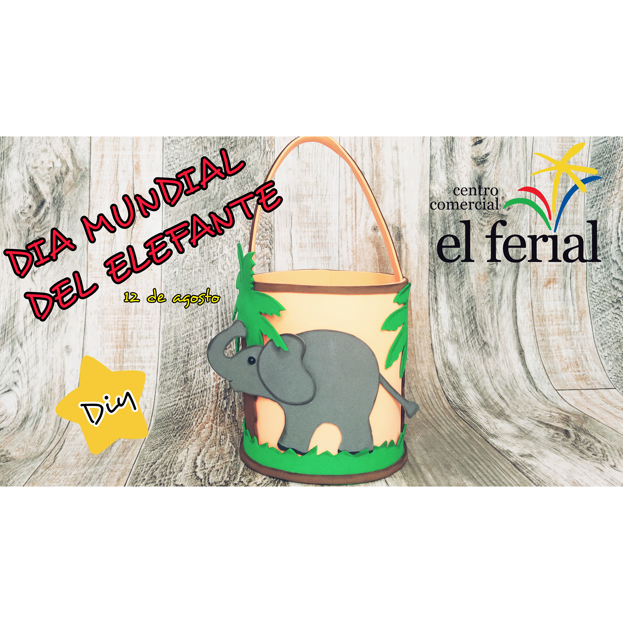 Taller DIY 14/08/2021: Cestita elefante